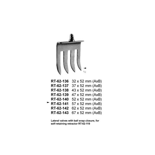 Lateral valves RT-62-136-143