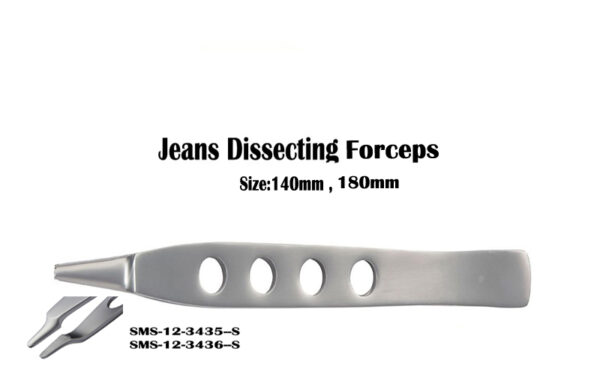 Jeans Dissecting Forceps Serrated Jaws