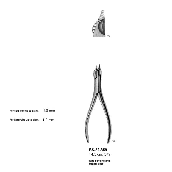 Wire Bending And Cutting Plier BS-32-859