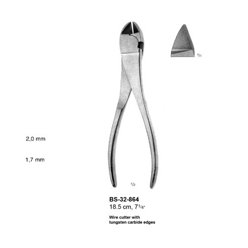 Wire Cutter with TC Edges BS-32-864