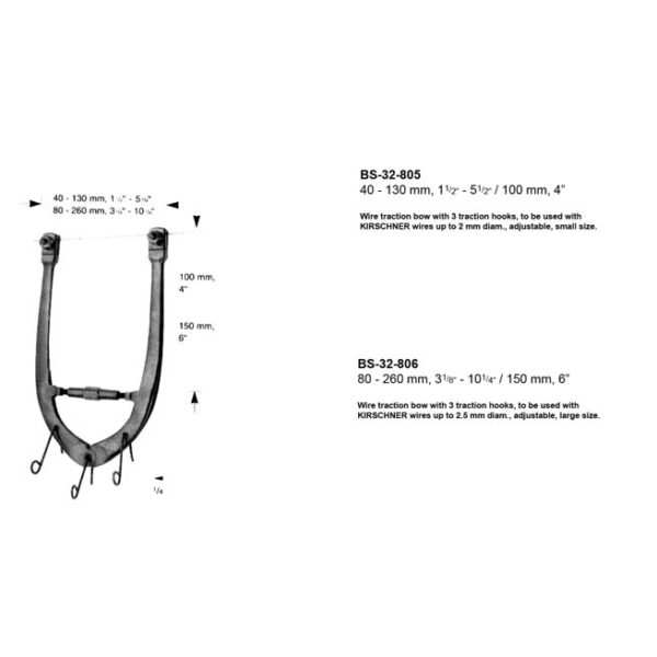 Wire Traction Bow BS-32-805-806