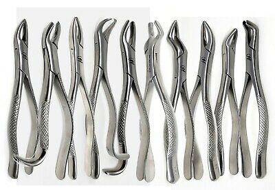 Extraction Forceps Set of 10